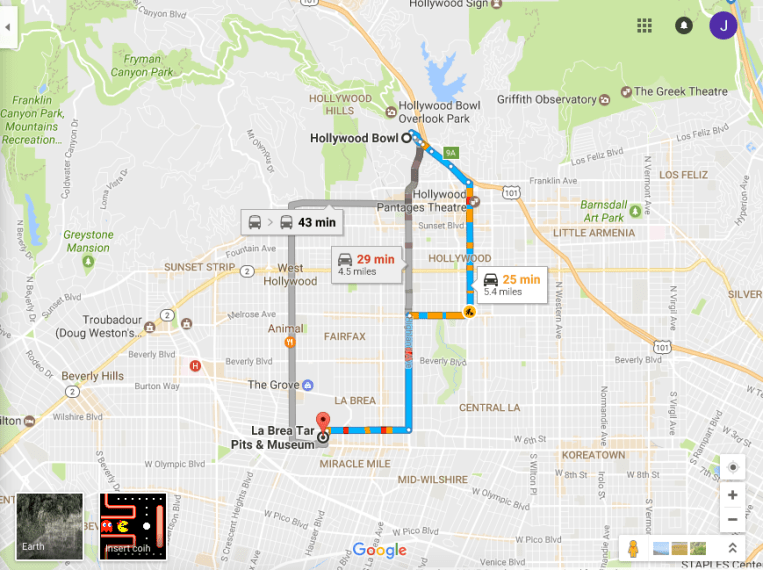 Google Maps just got a Ms  Pac Man makeover   HelloGiggles First  type the address of where you want to go under the Directions tab