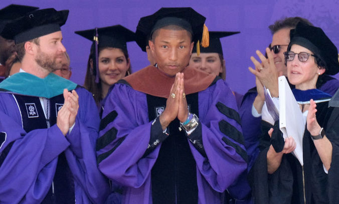 Bless you, Pharrell Williams, for this NYU commencement speech about women's rights