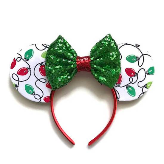 Picture of Christmas Lights Minnie Mouse Ears