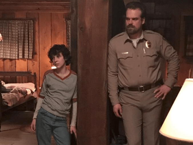 David Harbour And Millie Bobby Browns 2018 Golden Globes