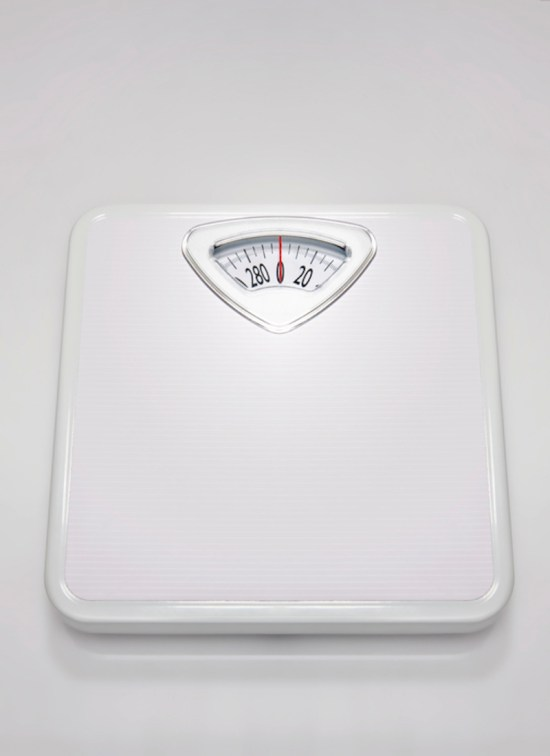 White weight scale