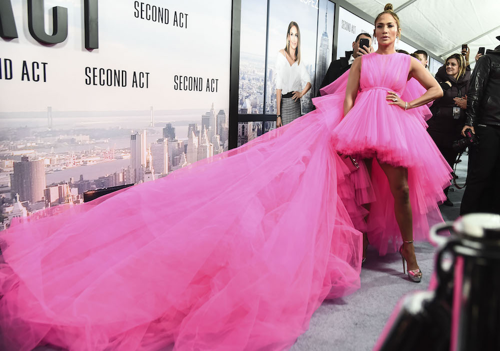 Jennifer Lopez Wears Giant Pink Dress To Second Act