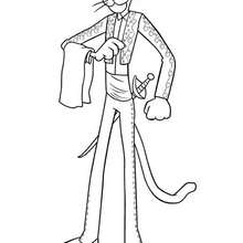 pink panther coloring pages # 19