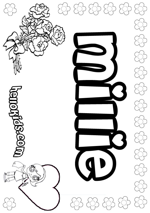 Millie Coloring Pages