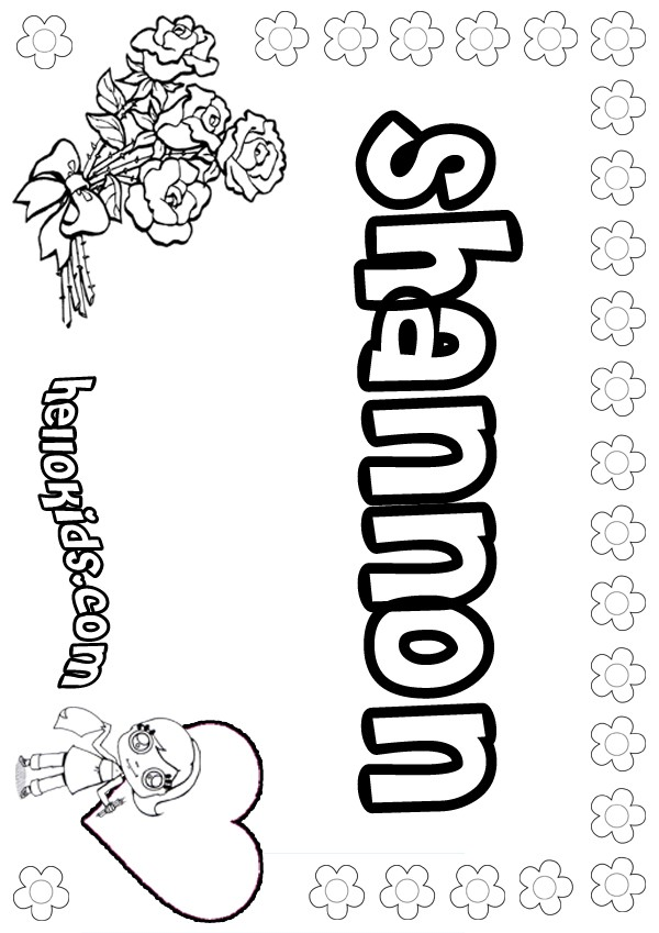 Shannon Coloring Pages
