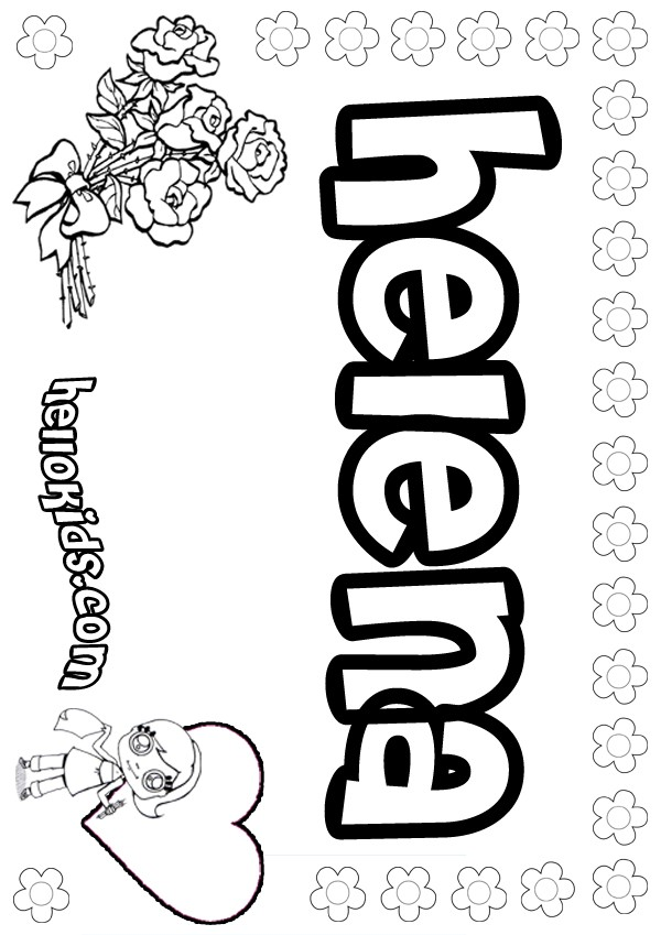 Helena Coloring Pages