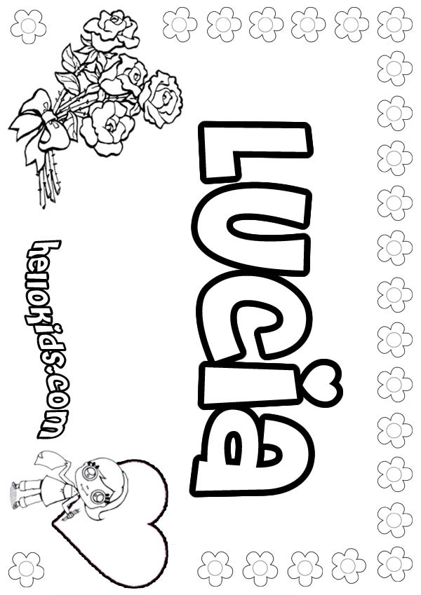 Lucia Coloring Pages