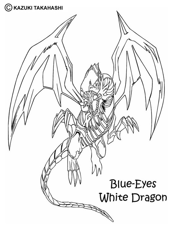 White Dragon 2 Coloring Pages