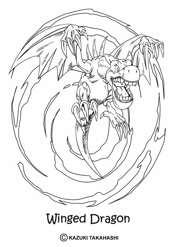 Winged Dragon Coloring Pages