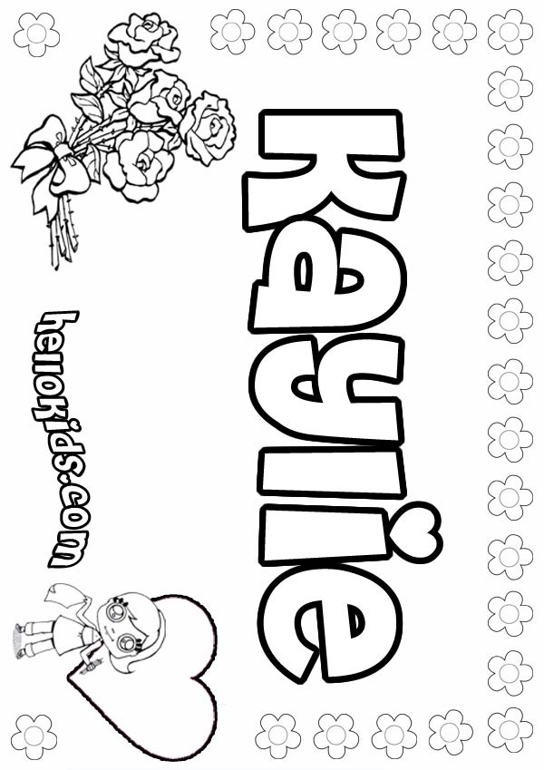 Kaylie Coloring Pages