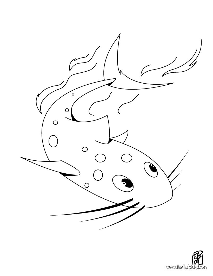 Sawfish Coloring Pages Hellokids
