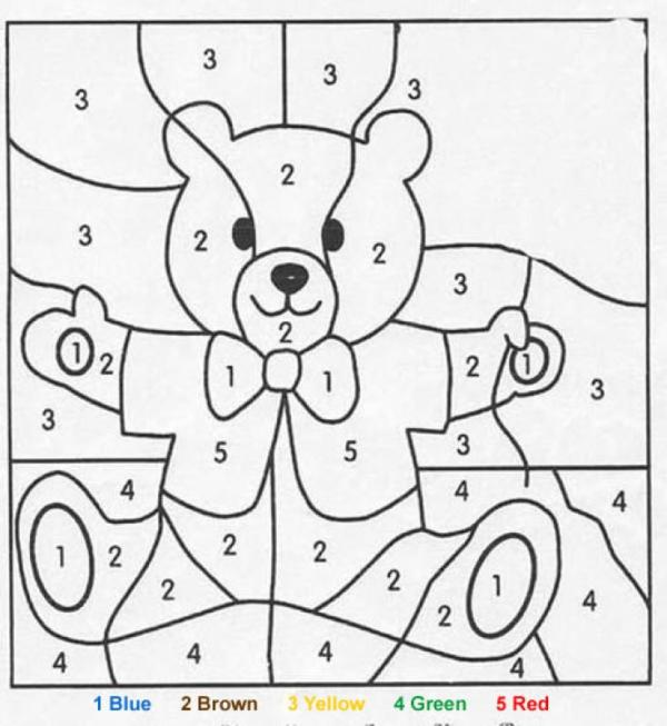 coloring pages color by number # 7