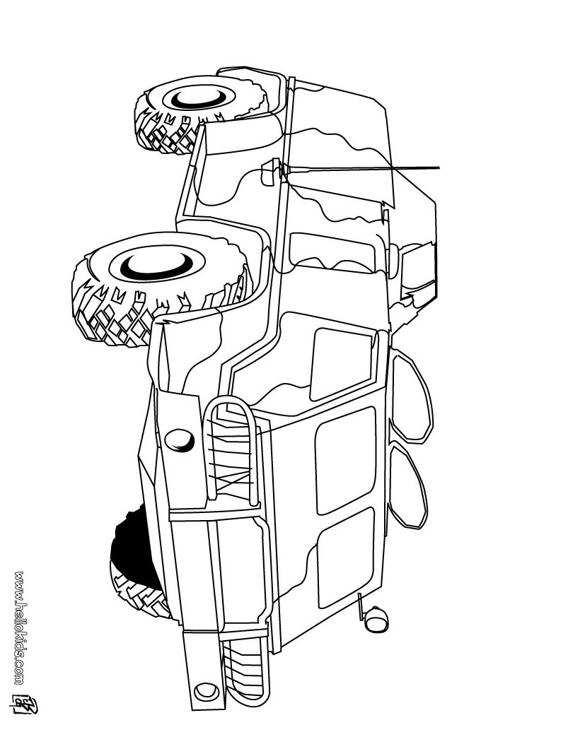 Tank Coloring Pages Hellokids