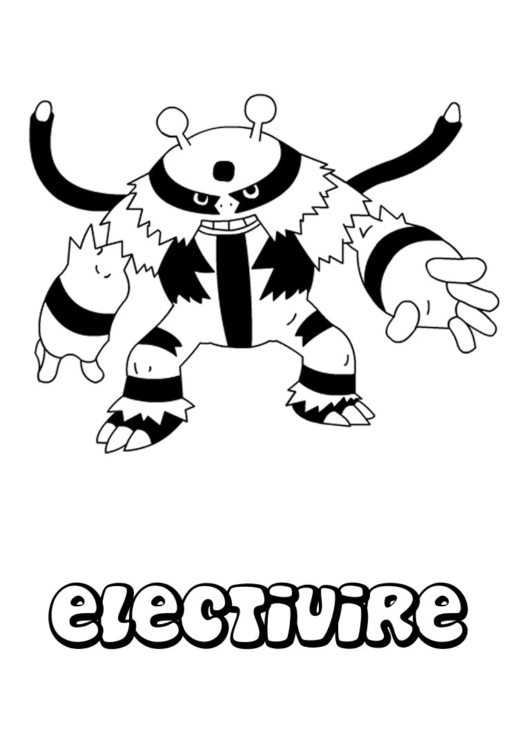 Electivire Coloring Pages
