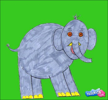 Elephant Coloring Pages Drawing For Kids Reading Learning Free Online Games Videos For Kids Kids Crafts And Activities Daily Kids News