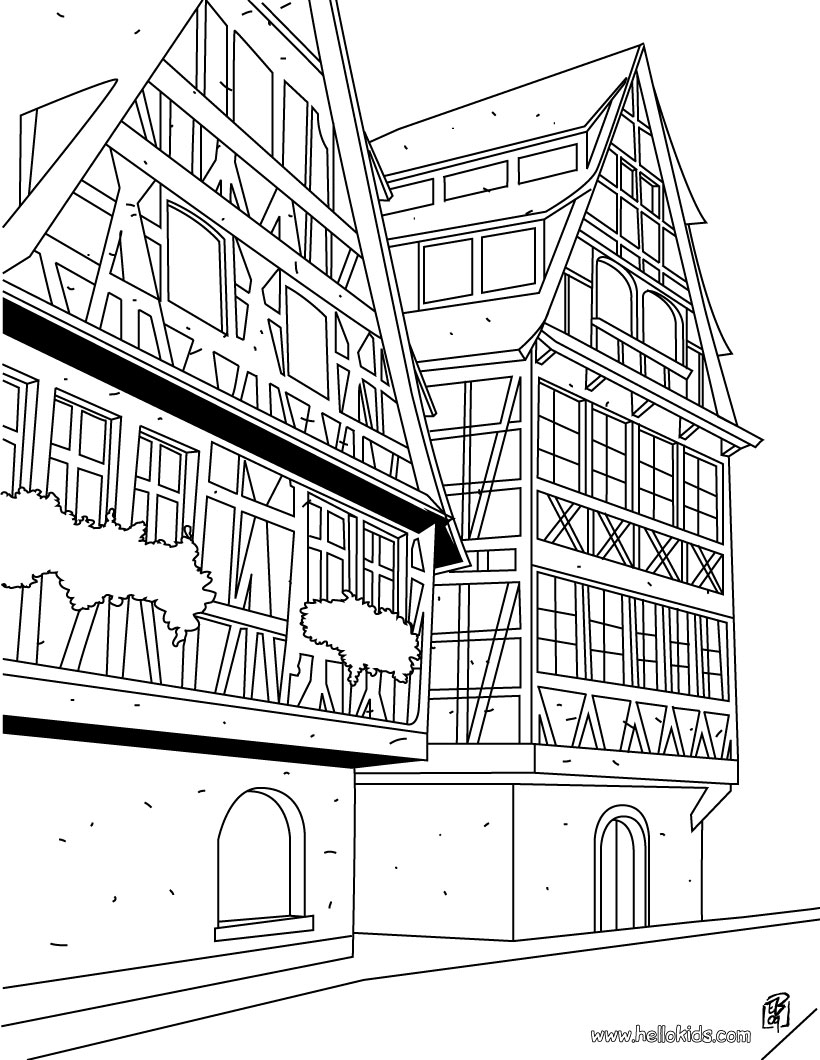 House Coloring Pages Reading Learning Drawing For Kids