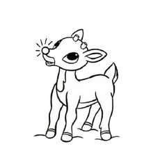 rudolph the red nosed reindeer coloring page # 0