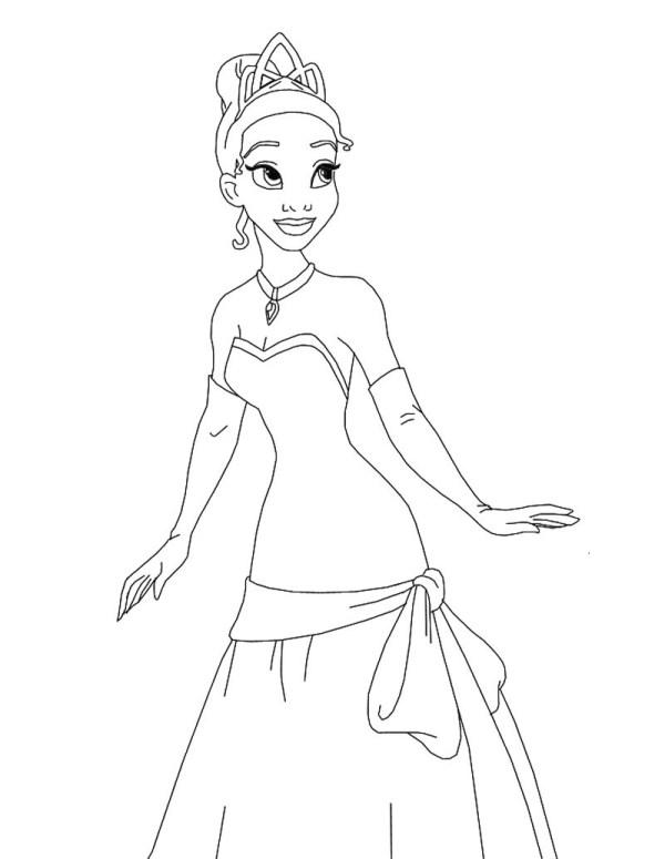 princess color page # 13