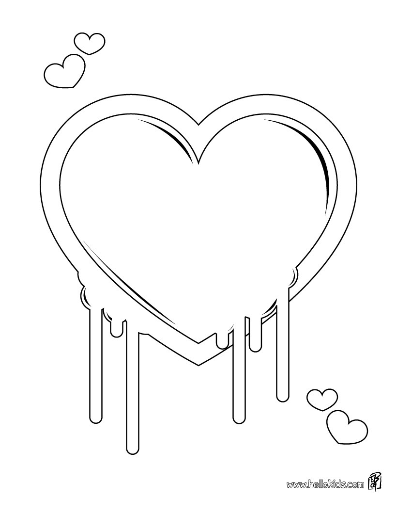 Heart Lollipop Coloring Pages