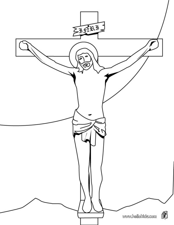 jesus on the cross coloring page # 2