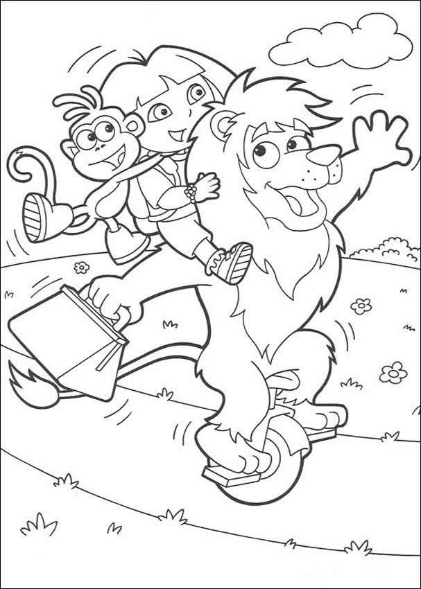 dora playing  friends coloring pages  hellokids