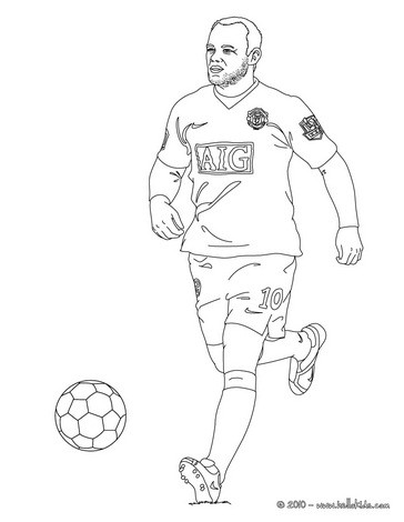 football player coloring page # 18