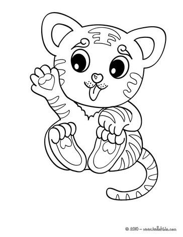 Tiger Coloring Pages Hellokids Com