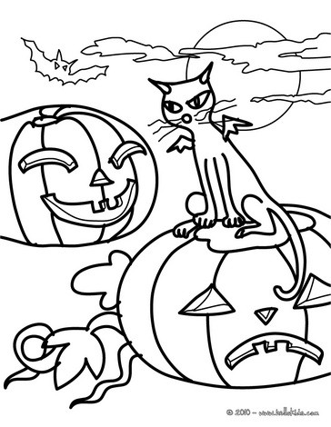 black cat coloring page # 78