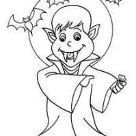 halloween vampire coloring pages