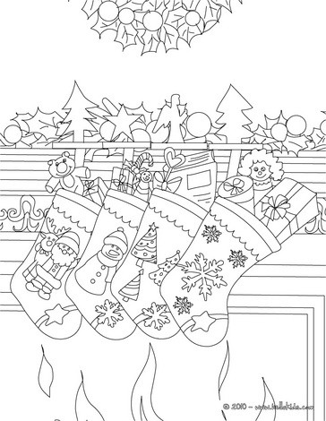 christmas stockings coloring pages # 28