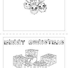 christmas card coloring pages # 64