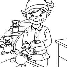 christmas elf coloring pages # 74