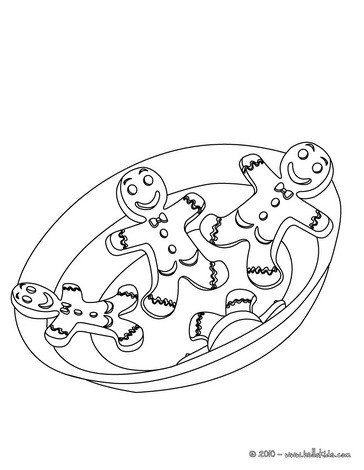 Gingerbread Man Coloring Pages 5 Free Xmas Printables To Color Online