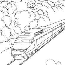 train coloring pages # 19