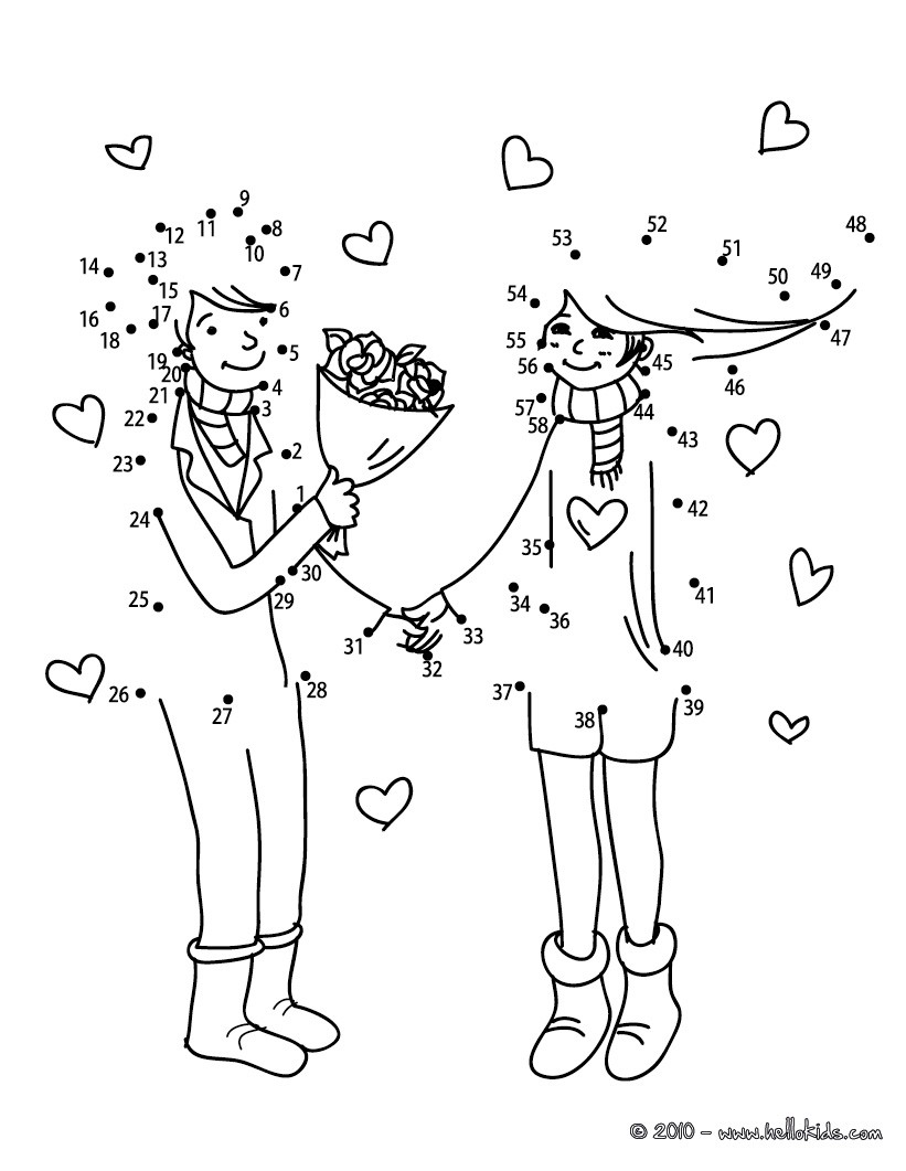 Declaration Of Love Coloring Pages