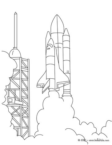 rocket ship coloring pages # 85