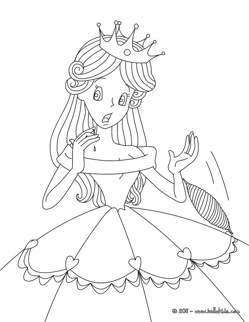 sleeping beauty fairy tale coloring pages  hellokids