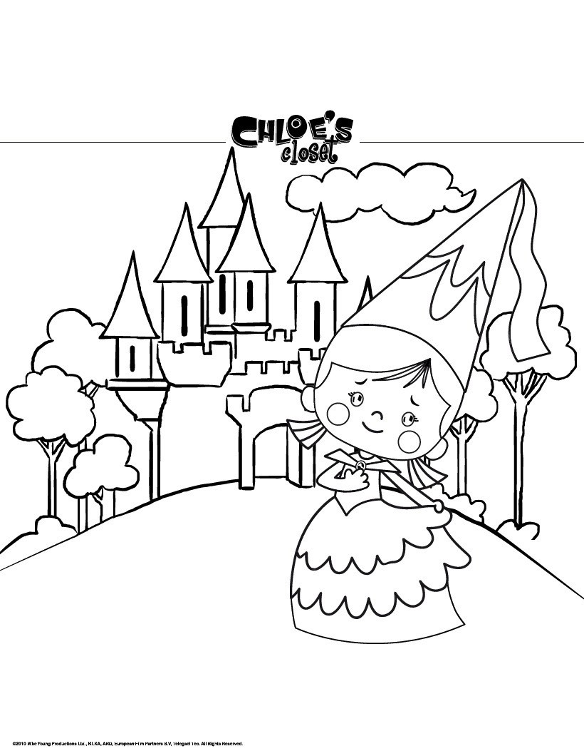 Castle Coloring Pages Free Online Games Reading Learning