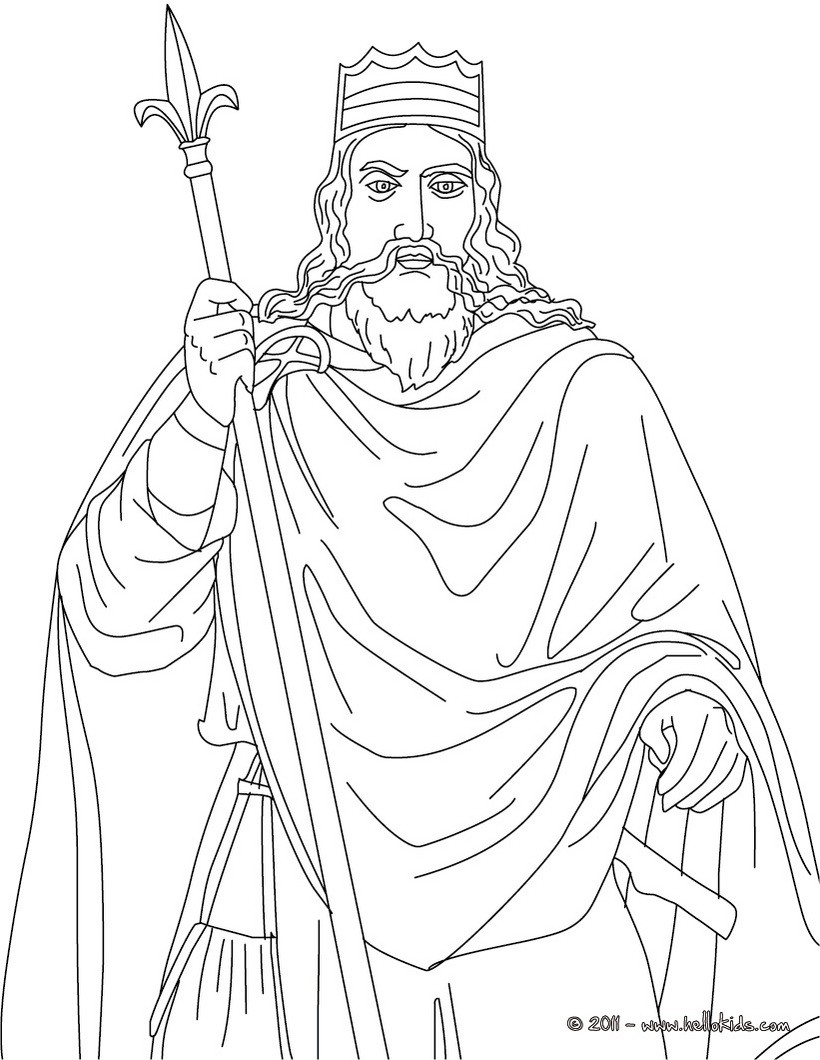 King Charlemagne Coloring Pages Hellokids