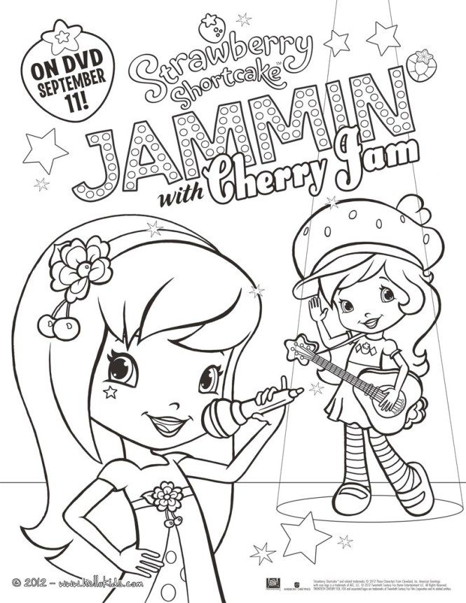 Jammin With Cherry Jam Strawberry Shortcake Coloring Page