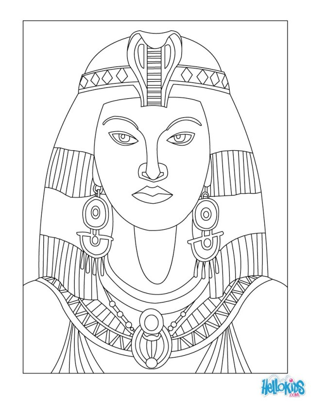 Cleopatra queen of egypt for kids coloring pages - Hellokids.com