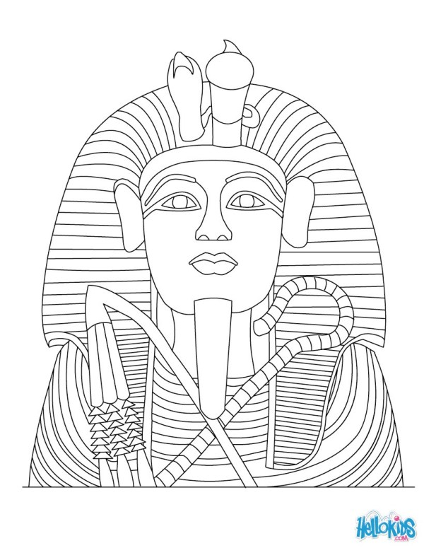 king tut coloring page # 3