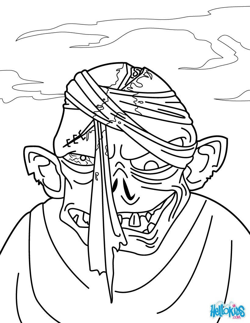 zombie head coloring pages  hellokids