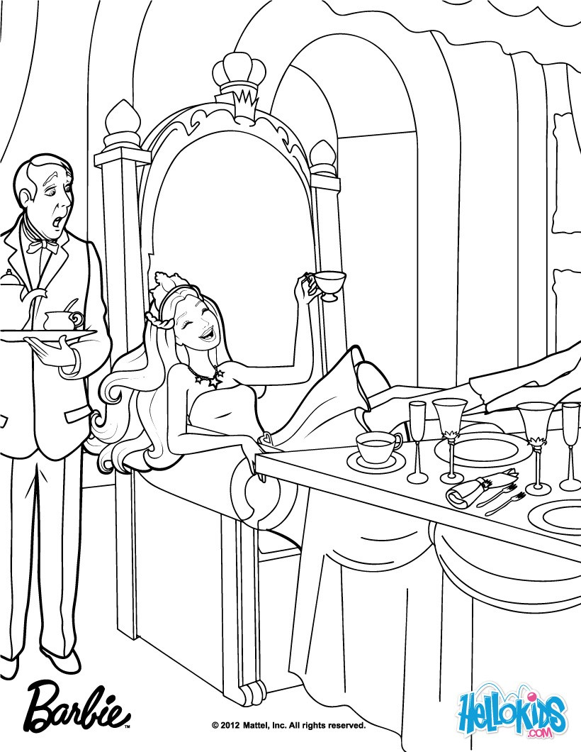 Barbie Keira Coloring Pages : Barbie as the princess and pauper coloring pages on
