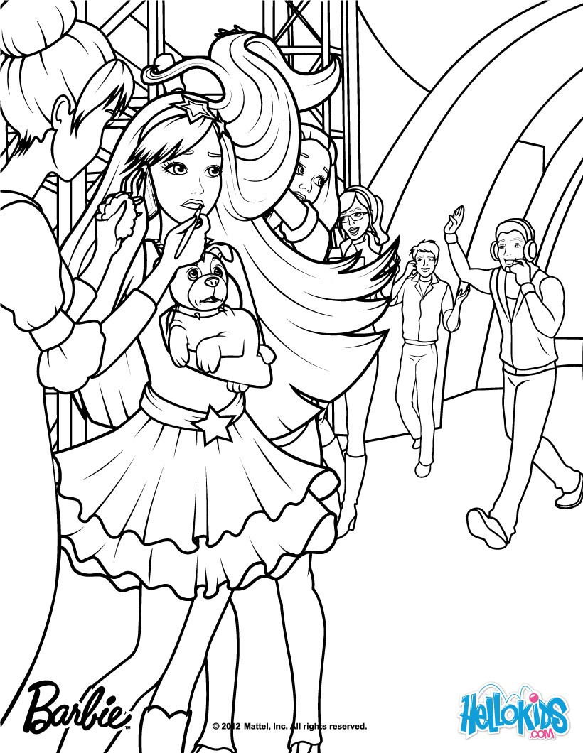 Keira With Her Fans Coloring Pages Hellokids