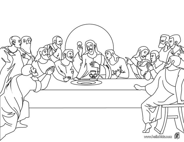 The Last Supper Coloring Pages Hellokids Com