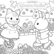 Celebrate Easter With The Sylvanian Families Coloring
