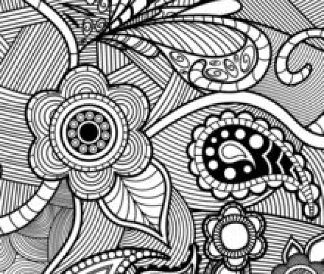 Flowers Paisley Design Coloring Pages Hellokids Com