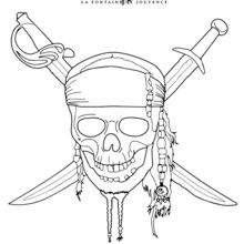 pirates of the caribbean coloring pages # 5