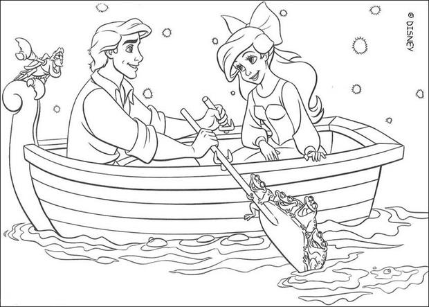 Ariel And Eric Coloring Page